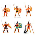 Cool Action Toy Figures 6 pcs Gladiator of Rome with Weapon Roma Ancient Middle Century Military