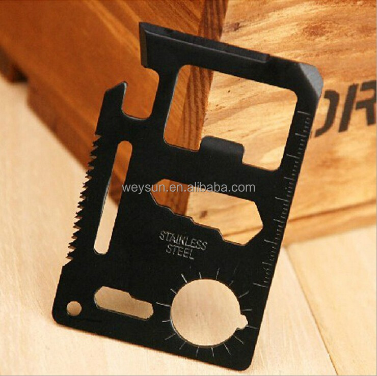 Multi Tools Oppner 11-in-1 Stainless Wallet Card Pocket Outdoor Survival Camping