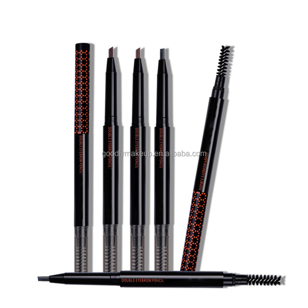 High Quality Makeup Brows Double Heads Aautomatic Eyebrow Pencil With Eye Brows Brush