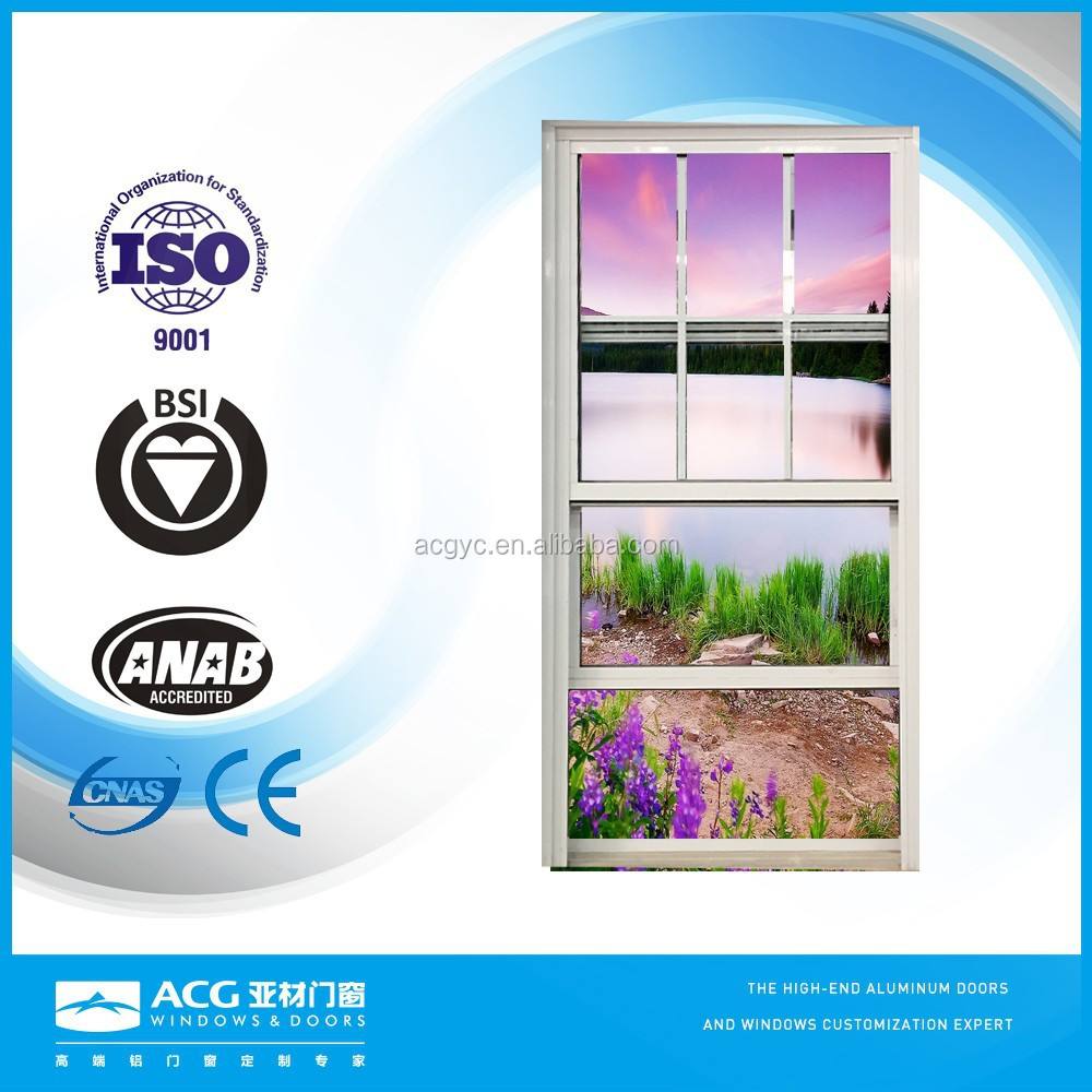 ACG Brand china manufacture price aluminum double hung window