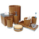 8 piece bathroom customized 100% natural bamboo Bath Accessories set
