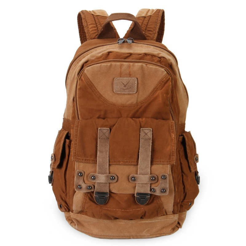 2015 New Canvas Backpack Men Military Tactical Backpack Vintage School Bags Women Rucksack Fashion Mochila Laptop Backpacks