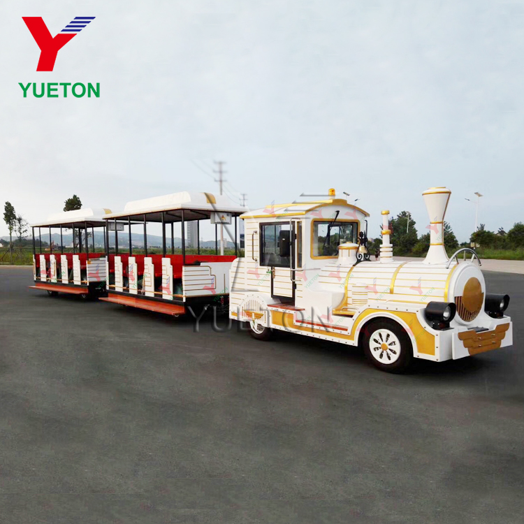 Earn Money Amusement Park Rides Family Games Tourist Road 40 Seats Trackless Train Rides Diesel Train For Sale