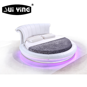 LED lighting hot sell cheap round bed CY011