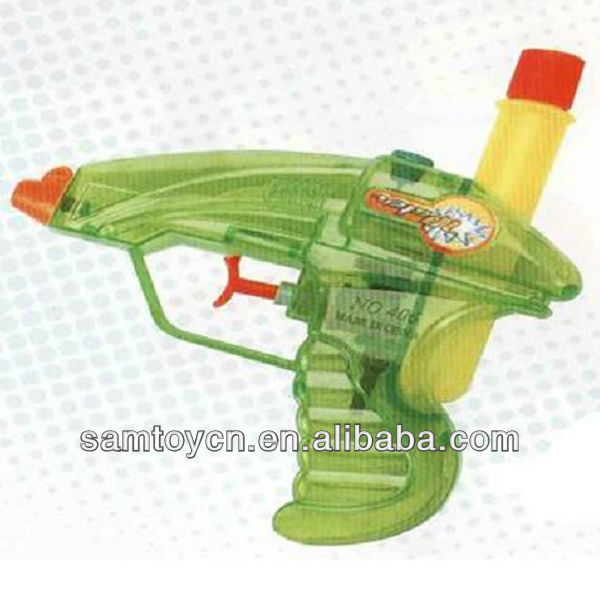 Plastic soap bubble water gun