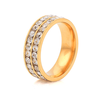 Zhongzhe Jewelry Stainless Steel 18K Gold Diamond Engagement Ring Mens Wedding Bands, OEM/ODM