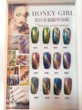12pcs set beautiful kit High quality of Chameleon Cat Eye Gel Nail Polish Soak Off UV