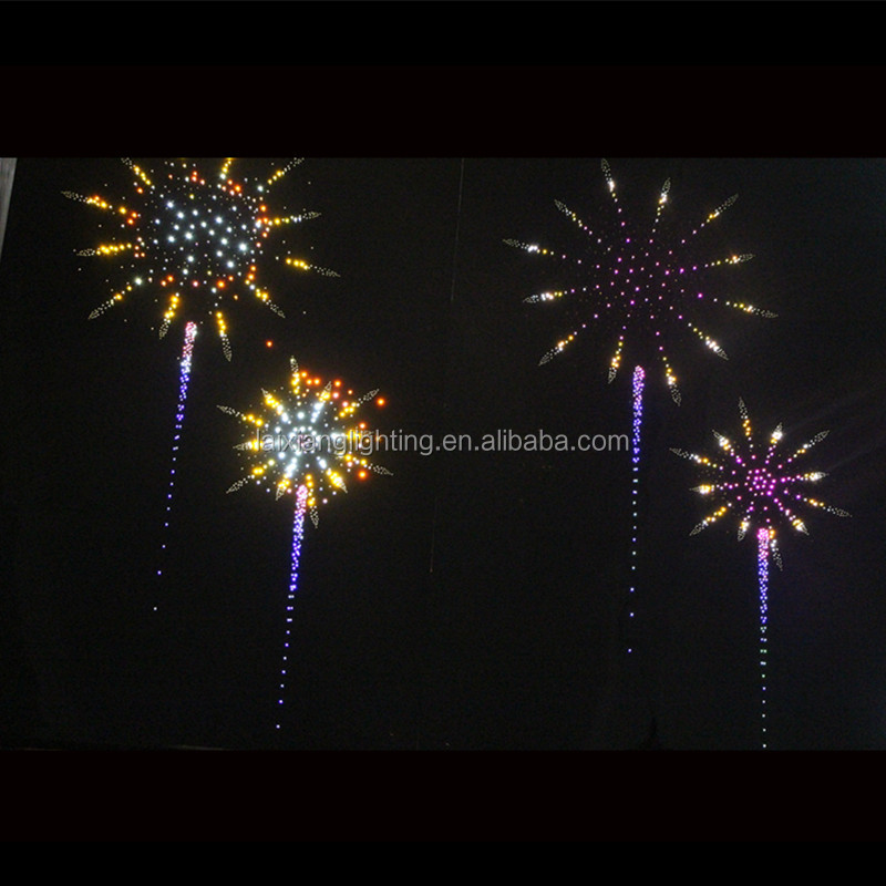 led sweet heart firework for ceiling and for hall with shooting star , twinkle star together