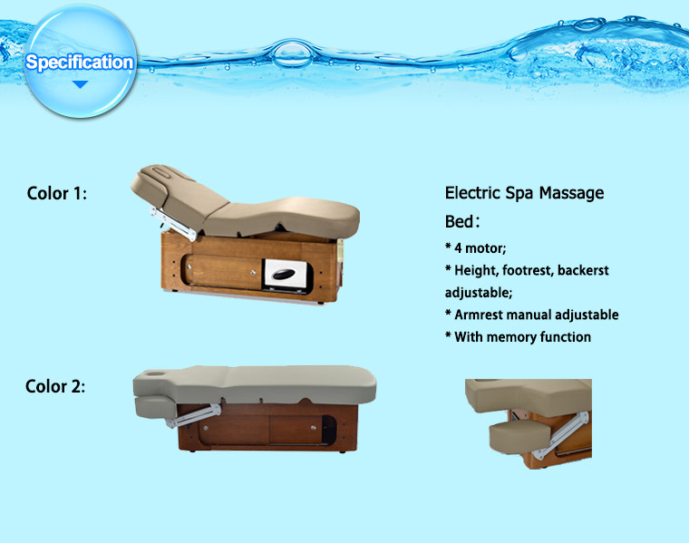 beauty table and cosmetic bed salon electric with wood electric massage beds