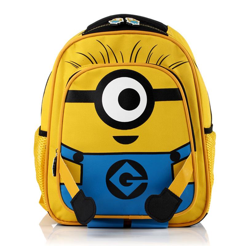 8933a98af4 2015 Cheap Children Bag Despicable Me Shoulder Bag Cartoon School Backpack  Oxford Children School Bags High Quality