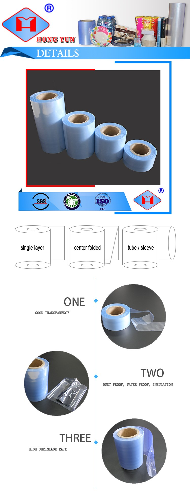 Classic High Quality Packaging Pvc Cling Film For Food Wrap