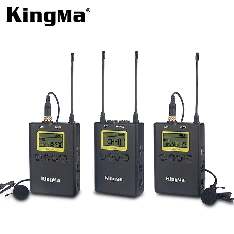 KingMa New Arrival Camera Accessories Professional Wireless Collar Microphone KM-WM9 For Digital Camera Camcorder/DV