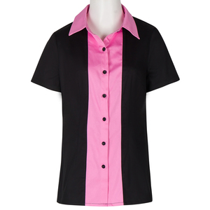 Wholesale working clothes short sleeve polo shirts women work uniform style