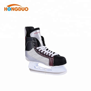 Fully stocked ice speed Rubber skates with iron size device