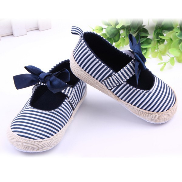 new style c6c7b 335cb Get Quotations · Pink Navy Infant Girls Shoes Anti-Slip Striped Crib Shoes  Kids Children Baby Prewalker