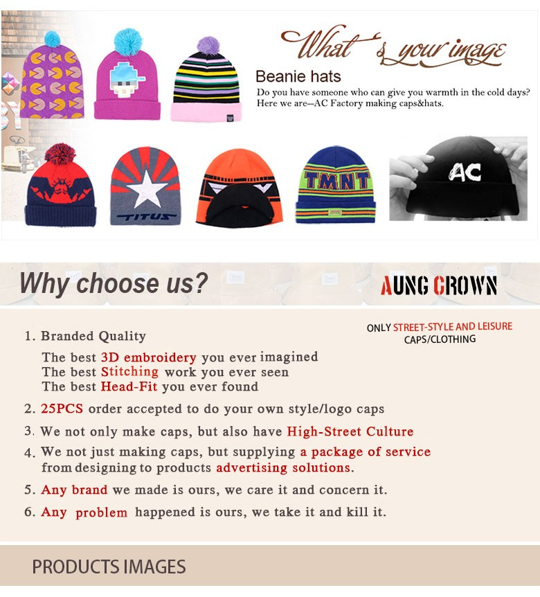 Promotional Custom Made Striped Slouch Pom Beanie/ Various Styles Of Knitted Hats