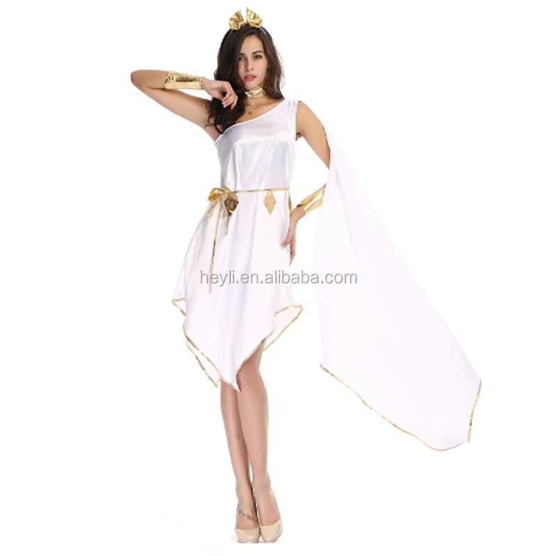 Onorevoli AFRODITE DEA GRECA GRECIAN Fancy Dress Costume Donna Adulti Grandi
