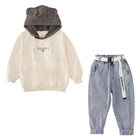 Cute hooded sweatshirt + jeans pants kids clothes set girls boutique clothing 2019 fall