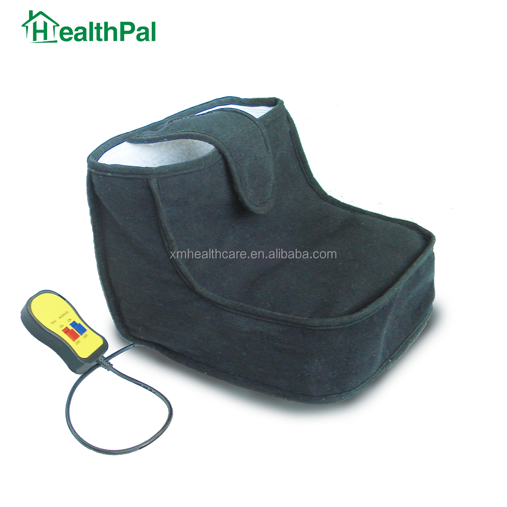 Soft Relaxing Blue Dual Speed Electric Heated Foot <strong>Massager</strong> & Heated Foot Warmer Boot