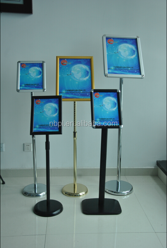 aluminum floor a4 stand poster displays,metal display stand