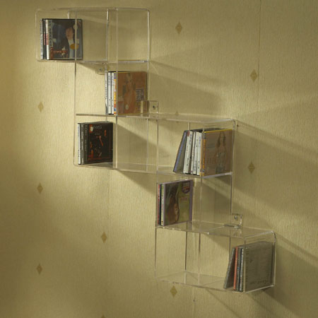 high quality clear acrylic shelving units for shoe or fitting