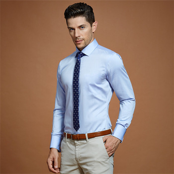 Blue Wedding Dress Shirt