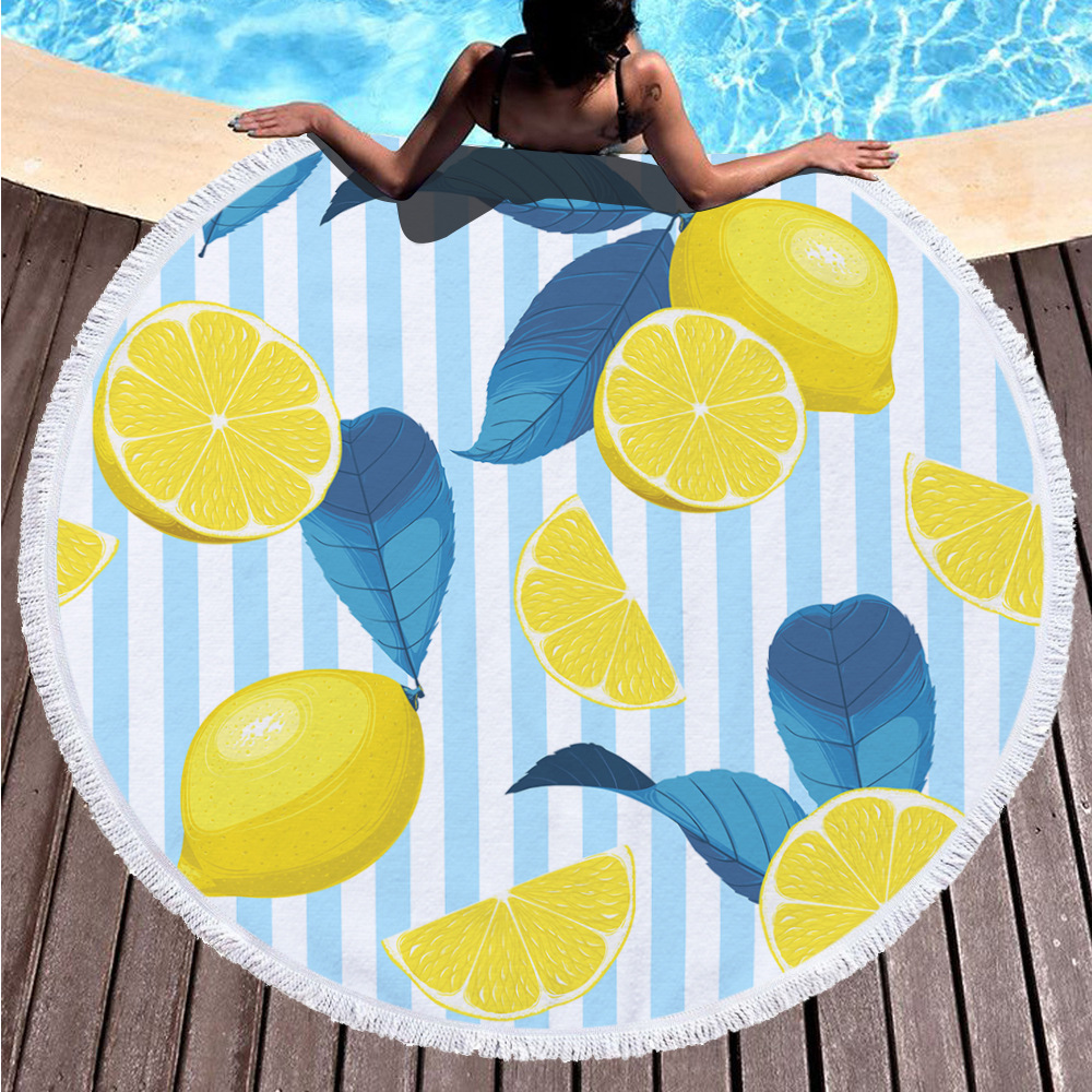 Factory Supply Personalized Tassel Sandy Blanket Custom Beach Towel