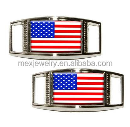 American Flag USA Shoe Sneaker Shoelace Charm