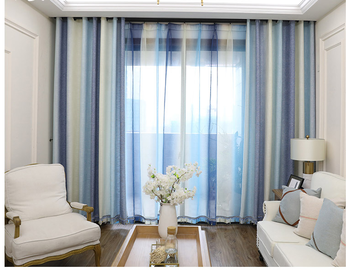Productos Mas Vendidos En China Sheer Voile Fabric Curtains Printed Landscape, Super Soft Automatic Printed Valance Fabric@