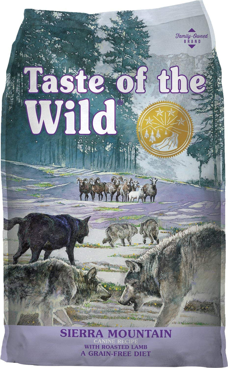 Taste of the Wild Sierra Mountain Dry Dog Food, (Roasted Lamb) 5 Pound Bag. Grain Free Dog Food!!!
