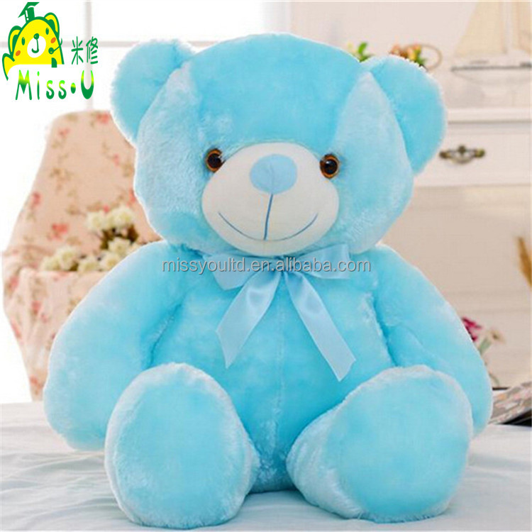 Wholesale Cute Stuffed Soft Plush Toys Night Lighting Colorful Bear Plush LED Toys