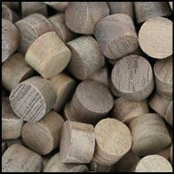 "WIDGETCO 3/8"" Walnut Wood Plugs, Face Grain"