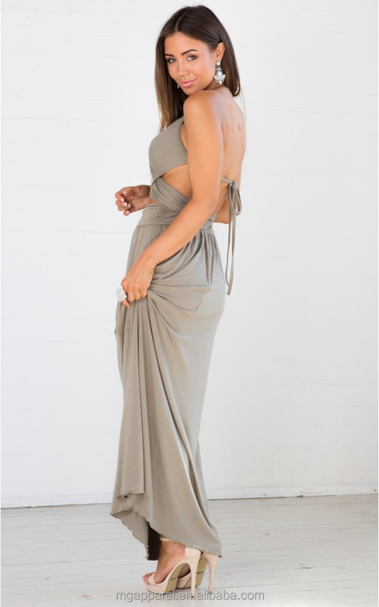 Khaki Maxi Dresses