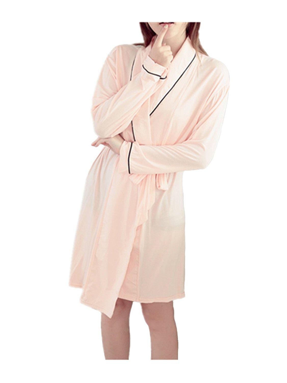 Get Quotations · Leright Women s Short Bath Robe Luxury Modal Spa Hotel  Sleep Wear Kimono Robe 36edb8ddc