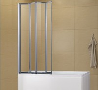 A0714P4 Polished chrome frame folding bath shower screen