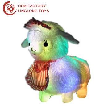 Led White Sheep Plush Toy Factory Direct Light Up Sheep Stuffed Toy