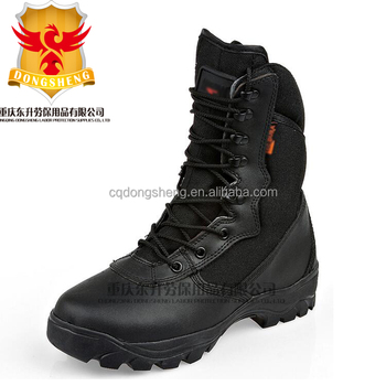Cheap Comfortable Black Leather Military Combat hunting Boots Security  Tactical Police Shoes price 02318e4a5da