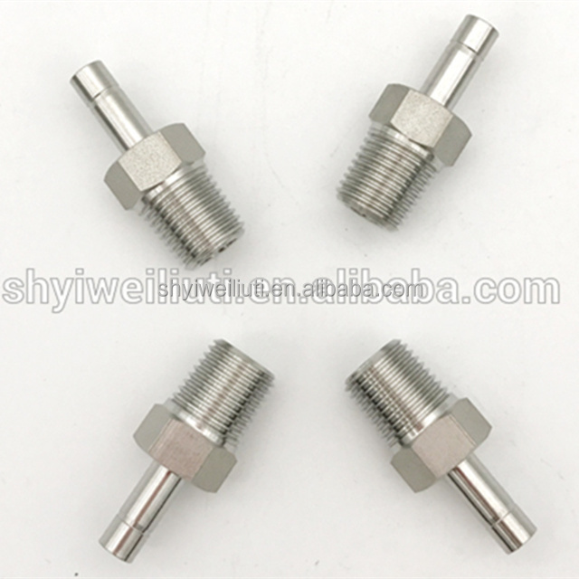 stainless steel plug with male and female thread adapter pipe fittings