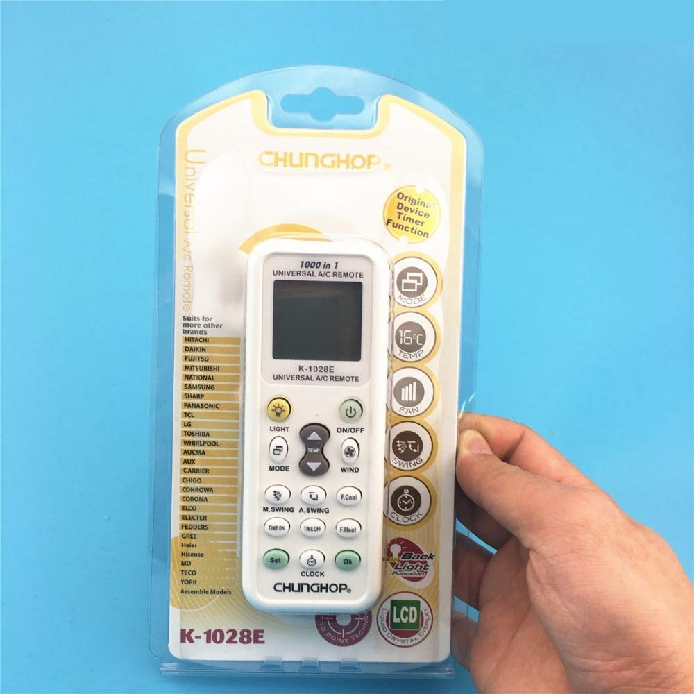 AVEEBABY 1PCS Universal A/C Controller Air Conditioner air Conditioning Remote Control CHUNGHOP K1028E with Packaging k-1028e