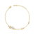bracelet-152 xuping delicate synthetic cz dreamy twinkle star bracelet, lovely adorable14k gold jewellery bracelet for girls