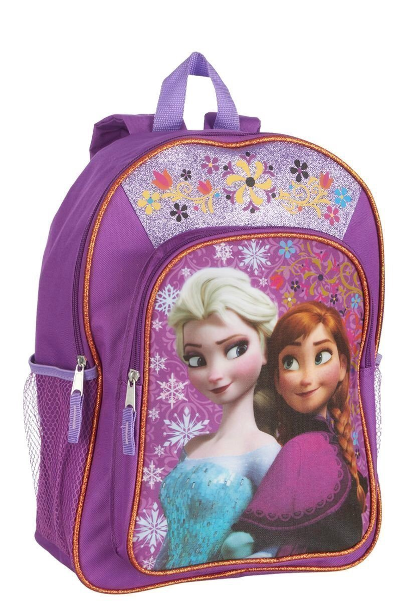 ee8208a0068 Get Quotations · Disney Frozen Anna   Elsa Girls Sparkle Backpack ...