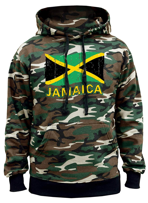 Interstate Apparel Mens Dripping Jamaica Flag Sleeveless Vest Hoodie