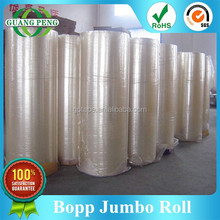 Cheap Acrylic Adhesive Bopp Tape Jumbo Roll For Converting Into Any Size Finished Roll