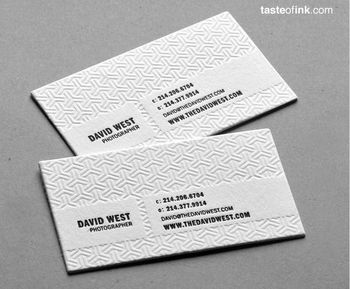Printed Luxury Paper Business Card