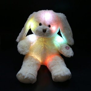 Free Shipping 45cm 1pcs Cute Easter Day Bunny Doll Night Glowing LED Rabbit Plush Toys Easter Gifts Birthday Gifts for Kids