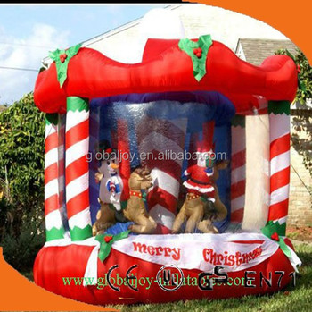 Super Exciting Inflatable Christmas Carousel Outdoor Christmas Easy Diy Christmas Decorations Tissureus