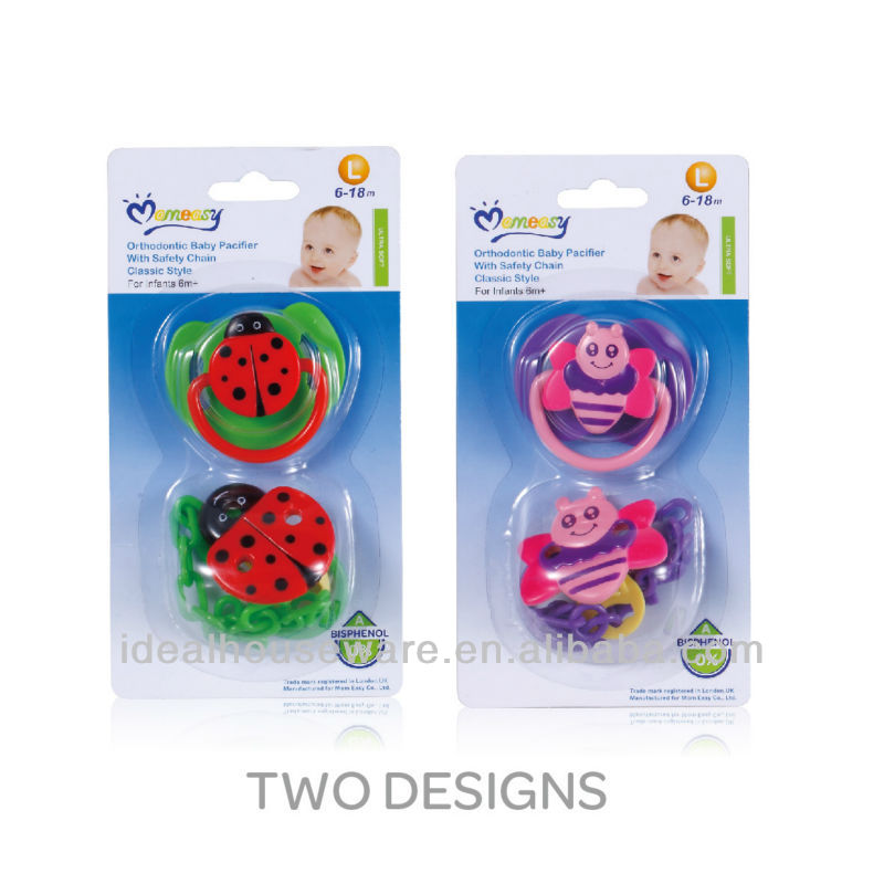 New Cartoon Shape Pacifier w/clip