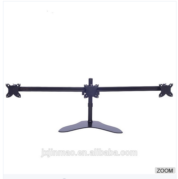 Aluminum desk mount three monitors triple monitor arm stand