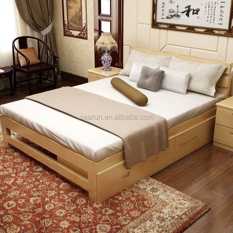 Em madeira maci a cama de casal com box modernos modelos - Modelos de cabeceros de cama ...