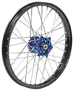 QTM/Brembo Offroad/ATV Complete Rear Wheel - Dark Blue Talon Hub/Black Excel Takasago Rim - 1.85x16 , Position: Rear, Color: Blue, Rim Size: 16 56-3143DB